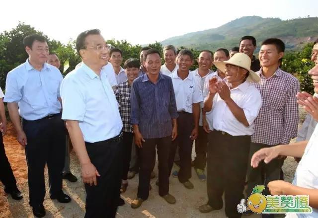 李克强总理考察了瑞金黄柏乡坳背无公害脐橙基地